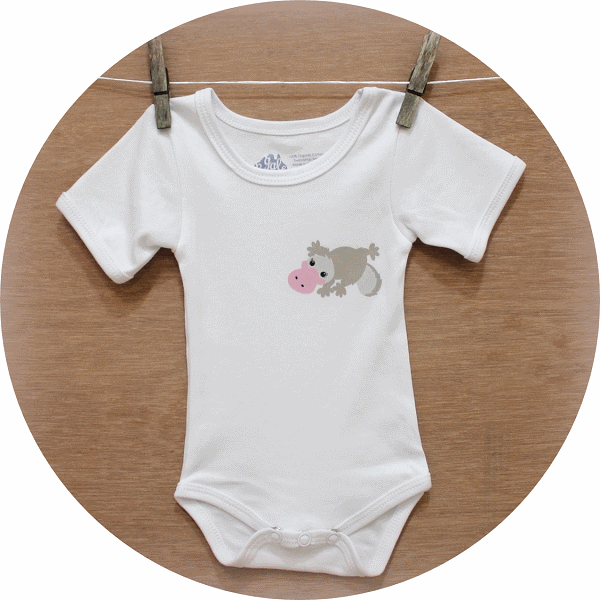 australian baby gifts organic cotton onesie with pebbles platypus