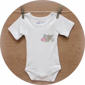 australian baby gifts organic cotton Australian baby onesie with pebbles platypus