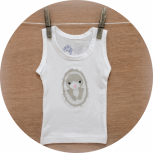 australian baby gifts organic baby singlet vest with echo echidna
