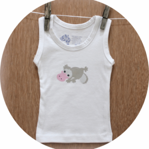 australian baby gifts organic cotton singlet vest with pebbles platypus