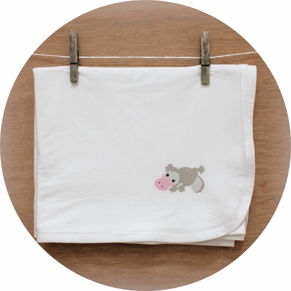 australian baby gifts organic cotton wrap with pebbles platypus